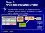 stage 3 xpi initial production system