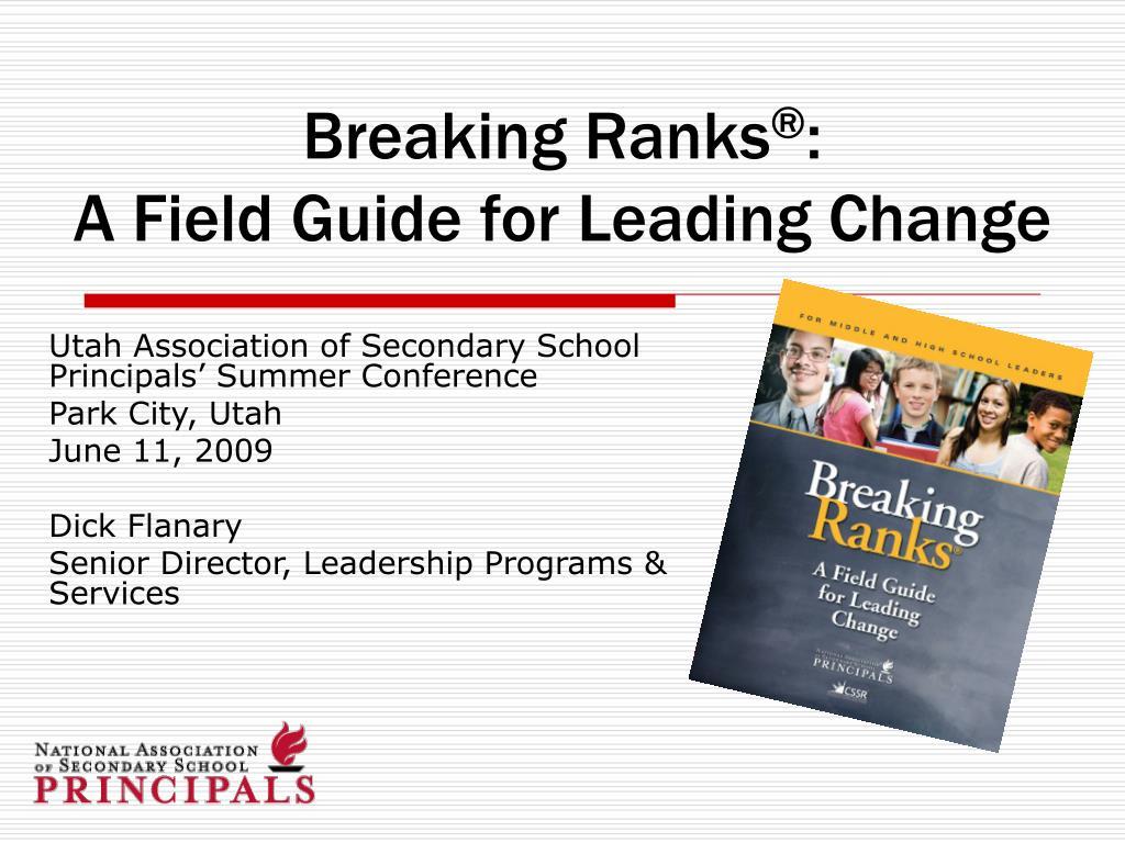 breaking ranks a field guide for leading change l.