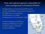 state and regional agencies responsible for water management in southwest florida