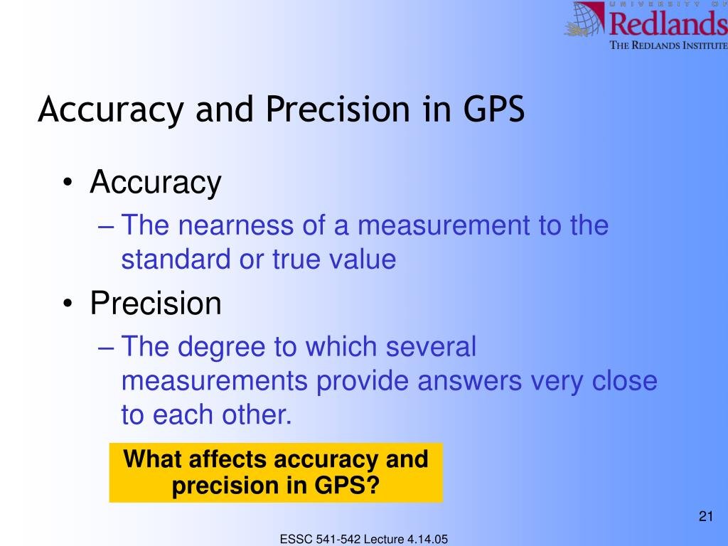 Accuracy and Precision in GPS