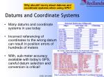 datums and coordinate systems