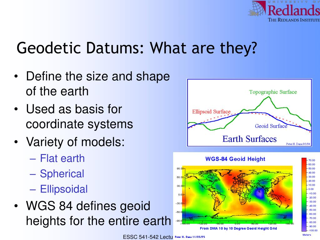 Geodetic Datums: What are they?