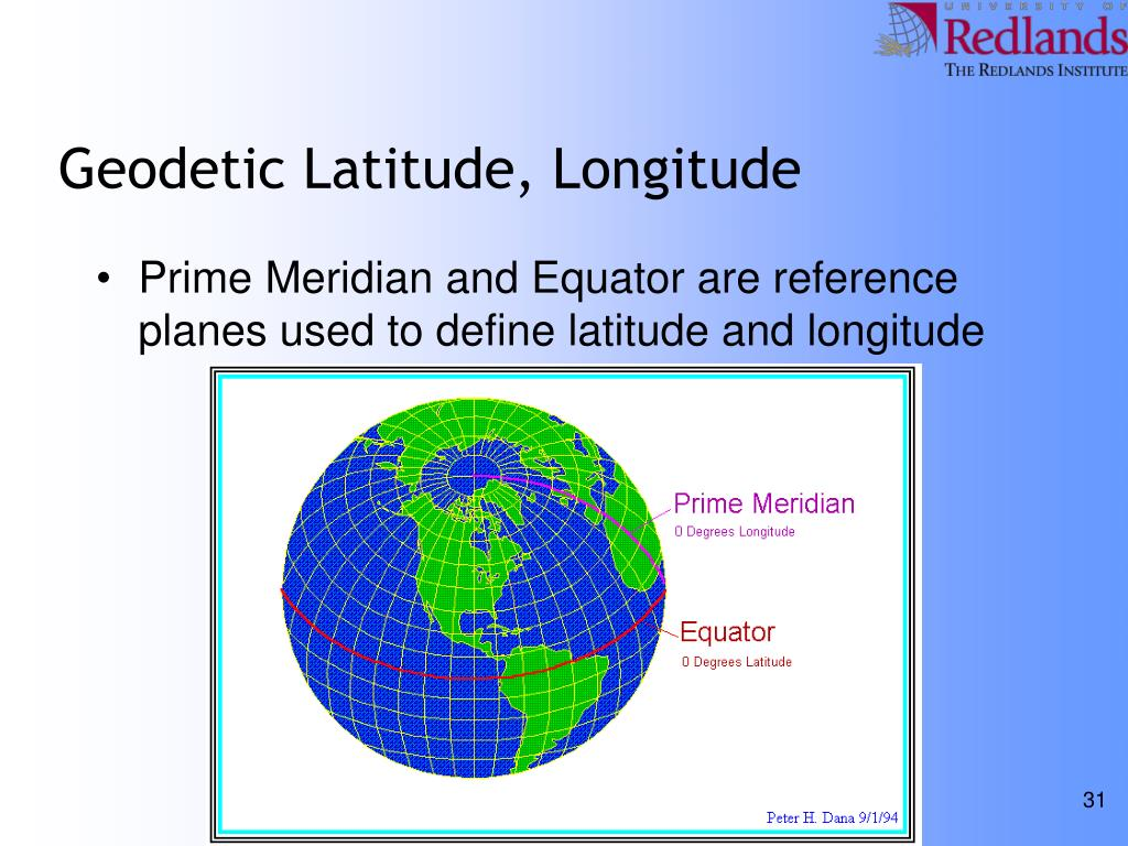 Geodetic Latitude, Longitude