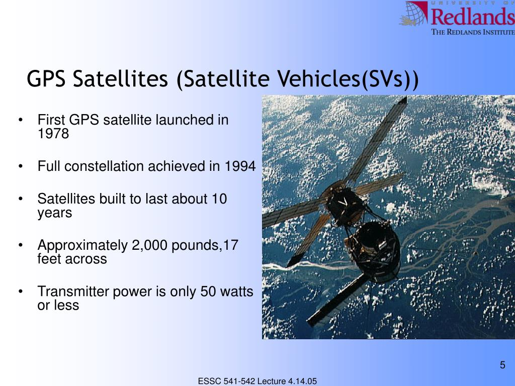 GPS Satellites (Satellite Vehicles(SVs))