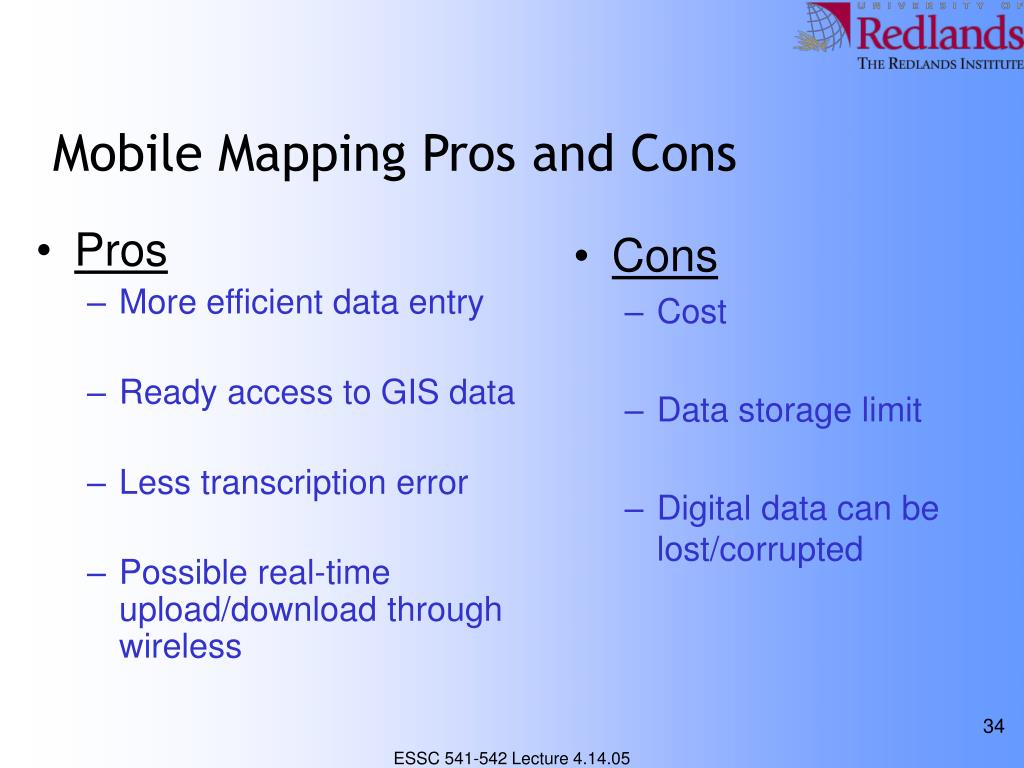 Mobile Mapping Pros and Cons