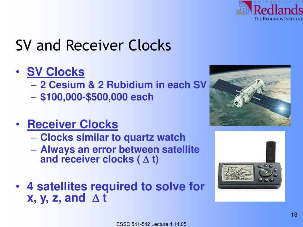 SV and Receiver Clocks