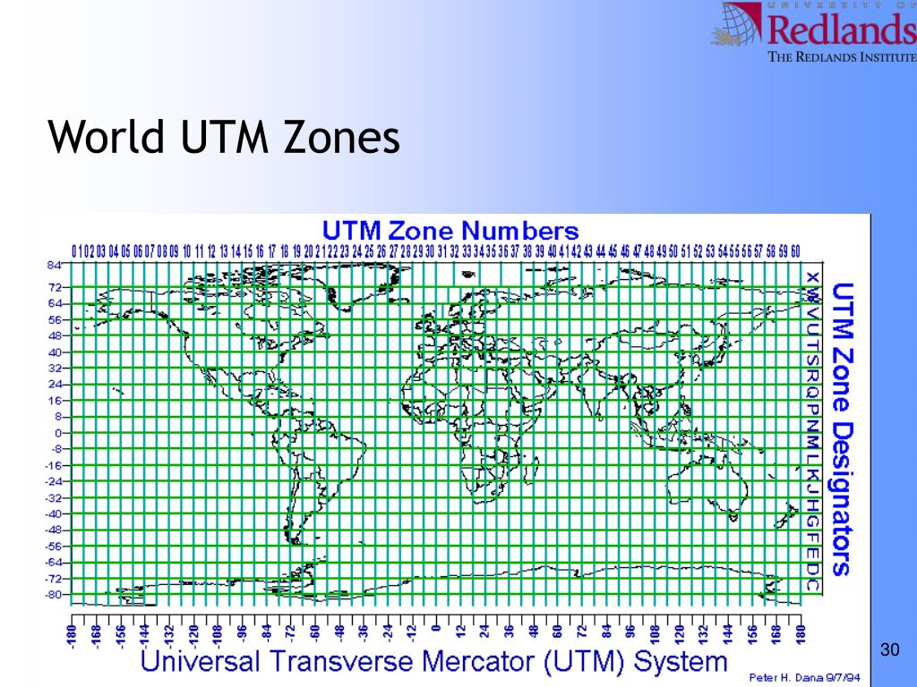 World UTM Zones