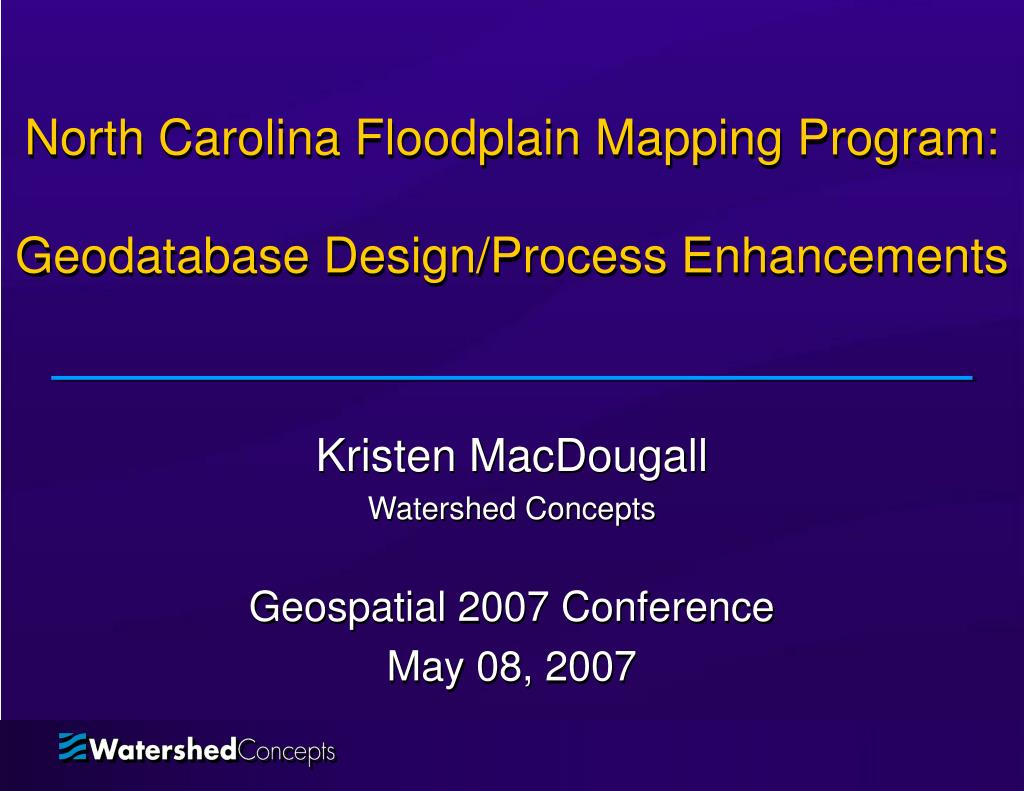 north carolina floodplain mapping program geodatabase design process enhancements l.