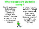 what classes are students taking