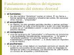 fundamentos pol ticos del r gimen falseamiento del sistema electoral