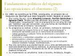fundamentos pol ticos del r gimen las oposiciones el obrerismo 2