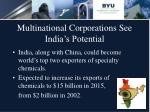 multinational corporations see india s potential8