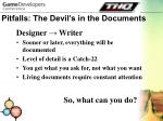 pitfalls the devil s in the documents