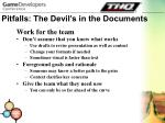 pitfalls the devil s in the documents30