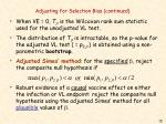 adjusting for selection bias continued15
