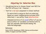 adjusting for selection bias