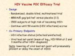 hiv vaccine poc efficacy trial
