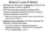 newton s laws of motion