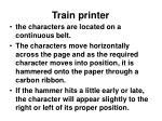 train printer