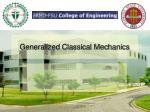 generalized classical mechanics