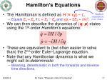 hamilton s equations