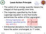 least action principle