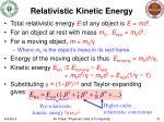 relativistic kinetic energy
