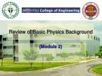 review of basic physics background