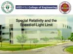 special relativity and the speed of light limit