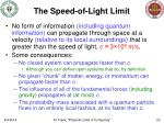 the speed of light limit
