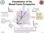 visualization of the mixed frame perspective