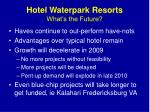 hotel waterpark resorts what s the future