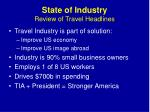 state of industry review of travel headlines