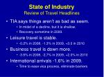 state of industry review of travel headlines1
