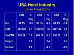 usa hotel industry future projections