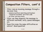 composition filters cont d