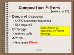 composition filters