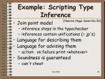 example scripting type inference