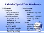 a model of spatial data warehouses