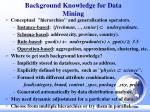background knowledge for data mining
