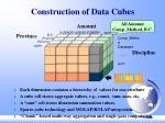 construction of data cubes