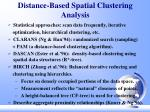 distance based spatial clustering analysis