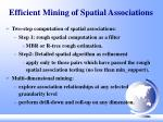 efficient mining of spatial associations