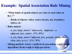 example spatial association rule mining