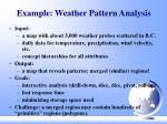 example weather pattern analysis