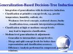 generalization based decision tree induction