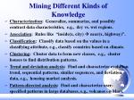 mining different kinds of knowledge