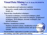 visual data mining ref d keim sigmod 96 tutorial