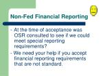 non fed financial reporting