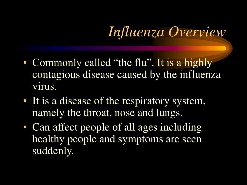 Influenza Overview
